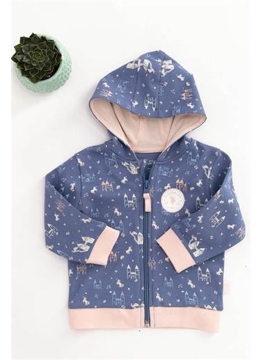 U.S. Polo Assn. Lisanslı Mavi Bebek Sweatshirt Mavi